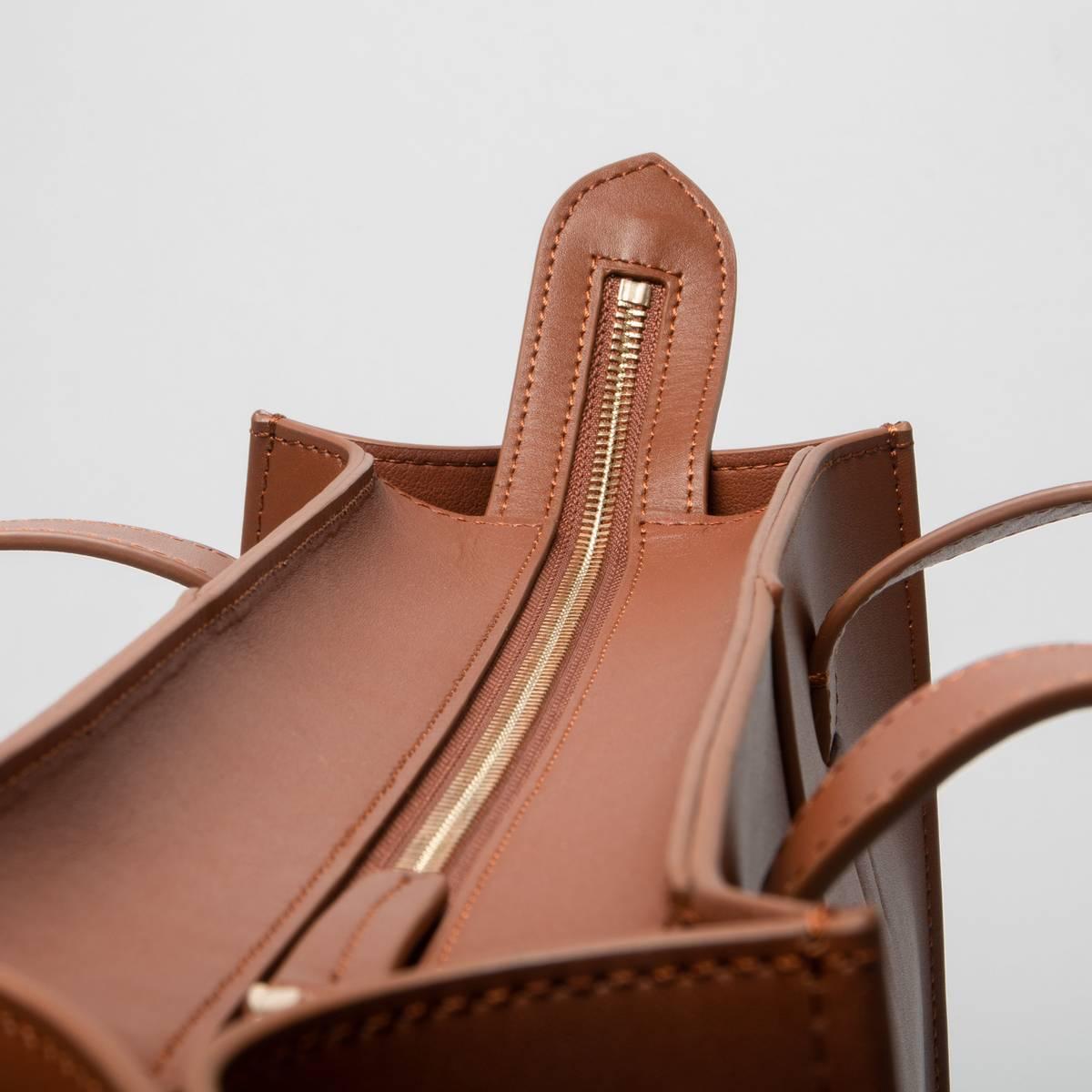 JIM RICKEY - Victoria Large Tote Nappa Leather Tan